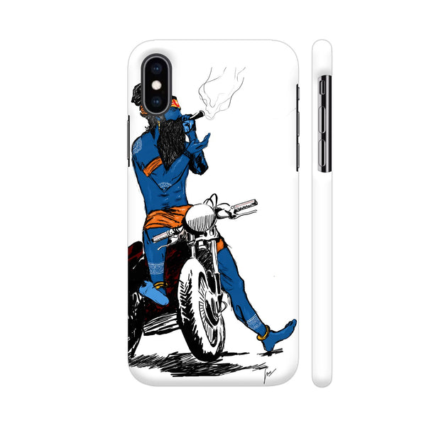 Mahadev Dude On Bike iPhone XS Max Cover | Artist: Jagriti