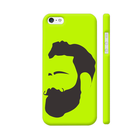 Man Beard iPhone SE Cover | Artist: Ashish Singh