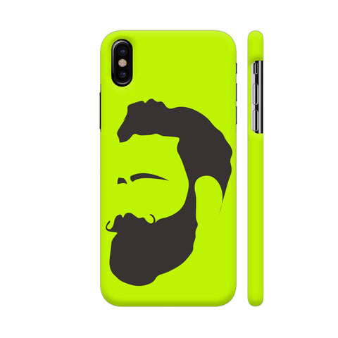 Man Beard iPhone X Cover | Artist: Ashish Singh