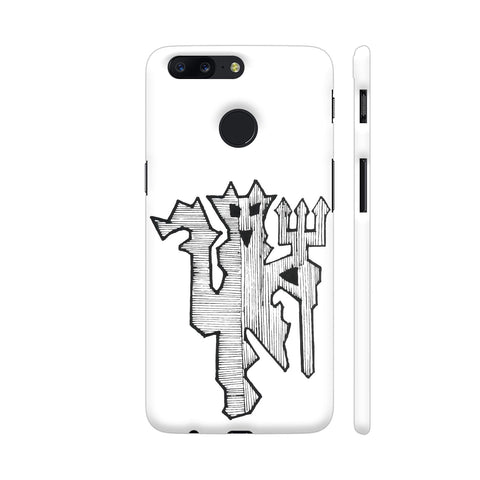 Manchester Hand Drawn Logo OnePlus 5T Cover | Artist: THE BLACKBUCK