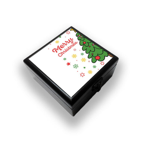 Merry Christmas Tree Jewellery Box