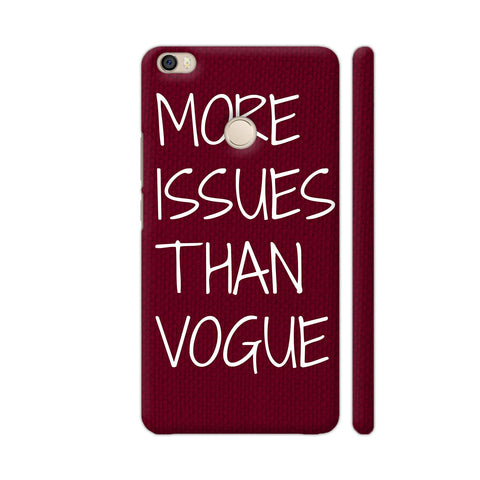 More Issues Than Vogue On Maroon Xiaomi Mi Max Case