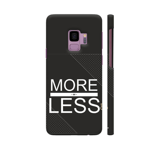 More Or Less In Black Samsung S9 Cover | Artist: Mita