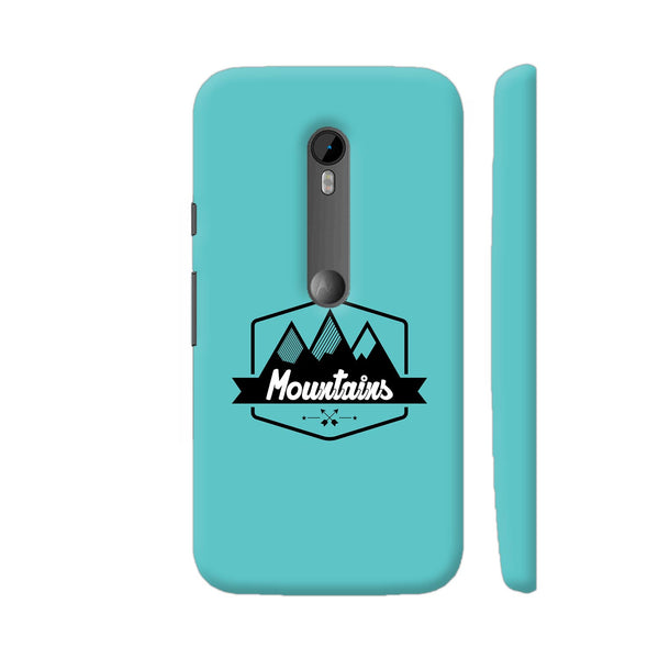 Mountains On Blue Moto G Turbo Cover | Artist: Designer Chennai