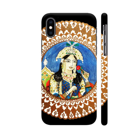 Mughal E Azam Mumtaz Mahal On Black iPhone XS Max Cover | Artist: Ismat