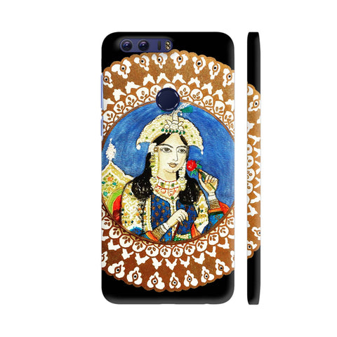 Mughal E Azam Mumtaz Mahal On Black Huawei Honor 8 Cover | Artist: Ismat