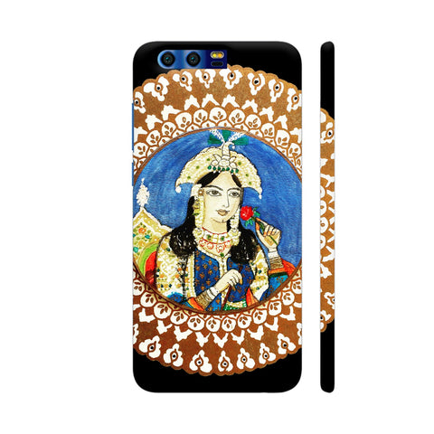 Mughal E Azam Mumtaz Mahal On Black Huawei Honor 9 Cover | Artist: Ismat