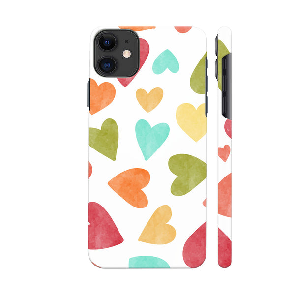 Multicolor Hearts iphone 11 Cover | Artist: Abhinav