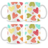 Multicolor Hearts Mug (Set of 4)