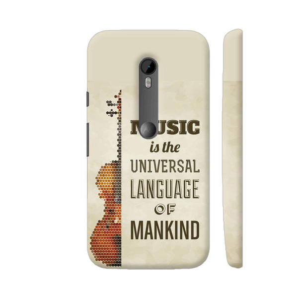 Music Is The Universal Language Of Mankind Moto G Turbo Cover | Artist: Astha