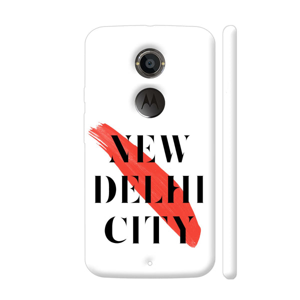 New Delhi City Moto X2 Cover | Artist: Abhinav
