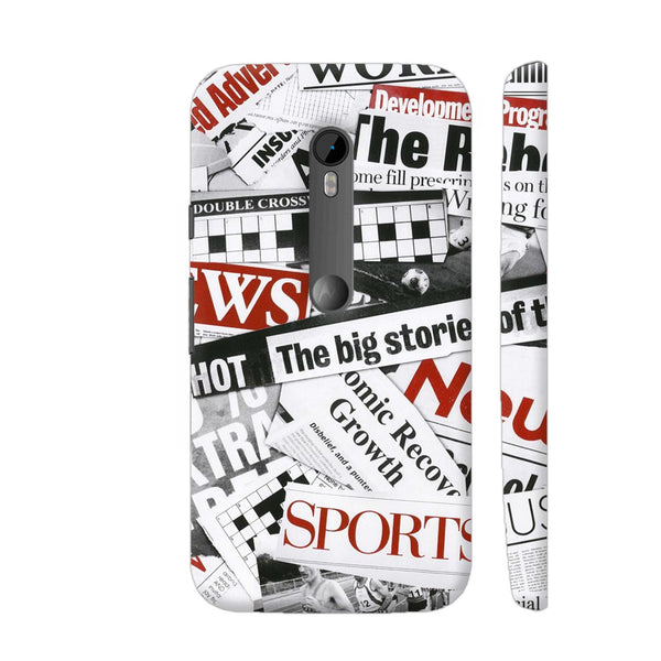 Newspaper Cutting Moto G3 Cover | Artist: Abhinav