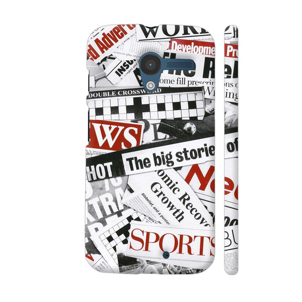 Newspaper Cutting Moto X1 Cover | Artist: Abhinav