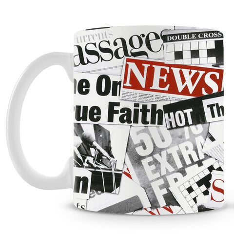 Newspaper Cutting Mug