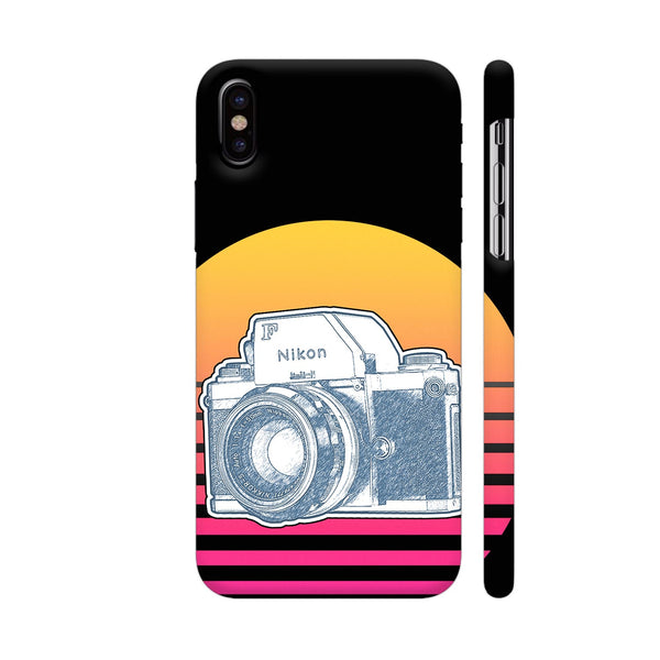 Nikon F Synth Neon iPhone X Cover | Artist: 3ZDesigns