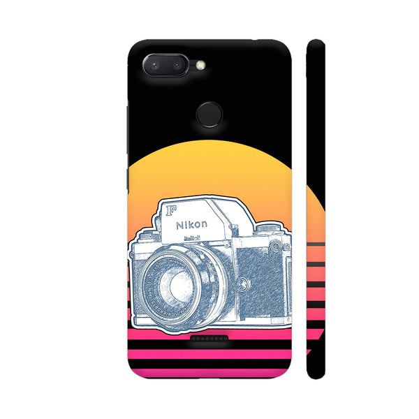 Nikon F Synth Neon Redmi 6 Cover | Artist: 3ZDesigns