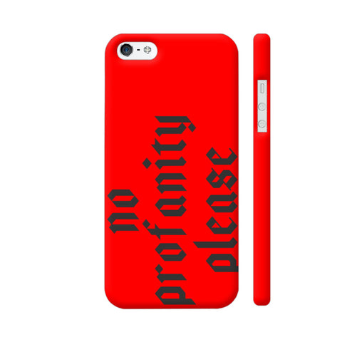 No Profanity Please On Red iPhone 5 / 5s Cover | Artist: VSeraphim
