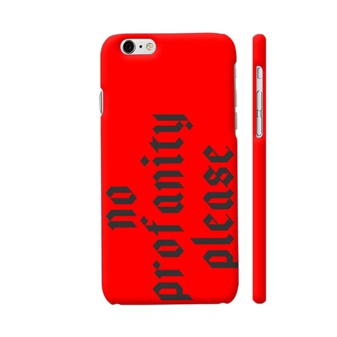 No Profanity Please On Red iPhone 6 Plus / 6s Plus Cover | Artist: VSeraphim