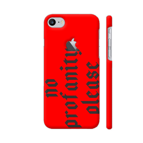 No Profanity Please On Red iPhone 8 Logo Cut Cover | Artist: VSeraphim