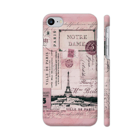 Nostalgic Paris Pink Collage Apple iPhone 7 Case