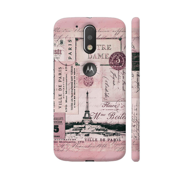 Nostalgic Paris Pink Collage Moto G4 / Moto G4 Plus Cover | Artist: LebensART