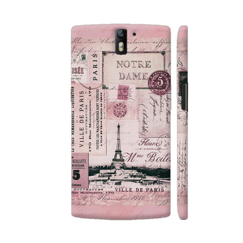 Nostalgic Paris Pink Collage OnePlus One Case