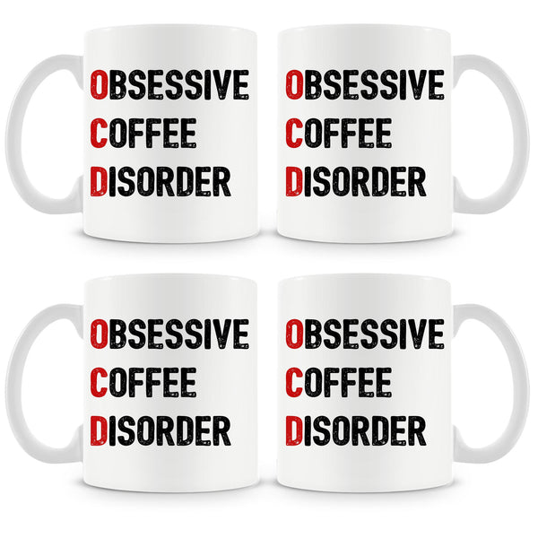 Obsessive Coffee Disorder Mug (Set of 4)