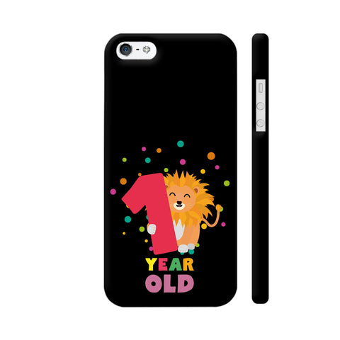 One Year First Birthday Party Lion iPhone SE Cover | Artist: Torben