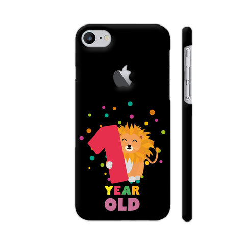 One Year First Birthday Party Lion iPhone 7 Logo Cut Cover | Artist: Torben