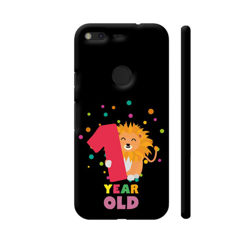 One Year First Birthday Party Lion Google Pixel Cover | Artist: Torben