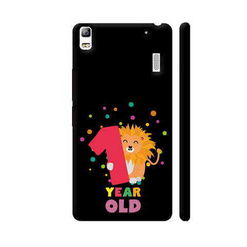 One Year First Birthday Party Lion Lenovo A7000 Cover | Artist: Torben