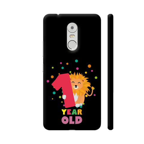 One Year First Birthday Party Lion Lenovo K6 Note Cover | Artist: Torben