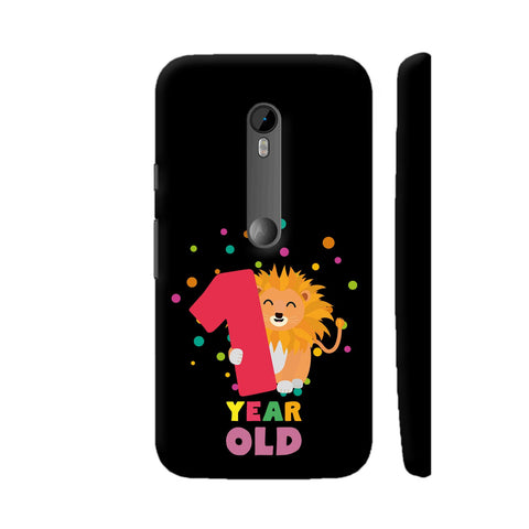 One Year First Birthday Party Lion Moto G Turbo Cover | Artist: Torben