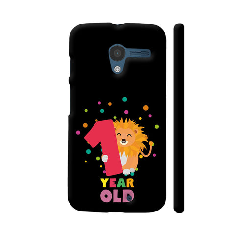 One Year First Birthday Party Lion Moto X1 Cover | Artist: Torben