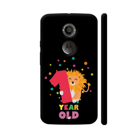 One Year First Birthday Party Lion Moto X2 Cover | Artist: Torben