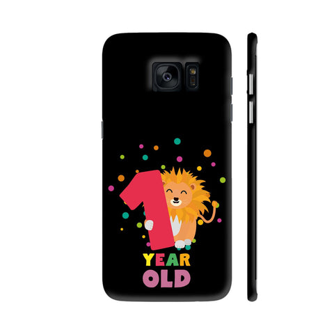 One Year First Birthday Party Lion Samsung Galaxy S7 Edge Cover | Artist: Torben