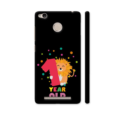 One Year First Birthday Party Lion Redmi 3S Prime Cover | Artist: Torben