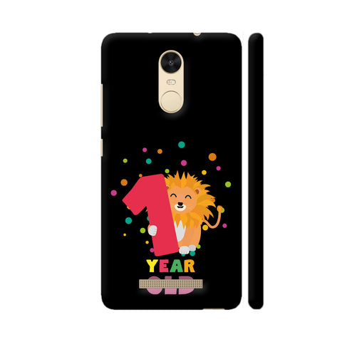 One Year First Birthday Party Lion Redmi Note 3 Cover | Artist: Torben