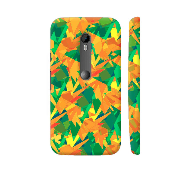 Orange Green Abstract Pattern Moto G Turbo Cover | Artist: Sangeetha