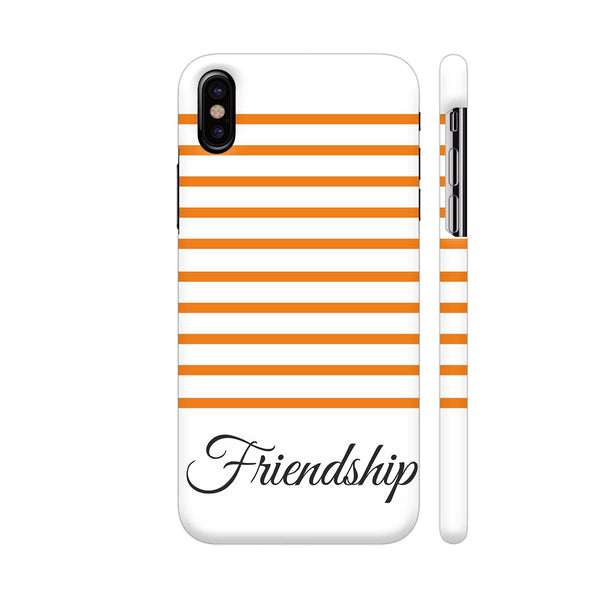 Orange Strips Friendship iPhone X Cover | Artist: Mita