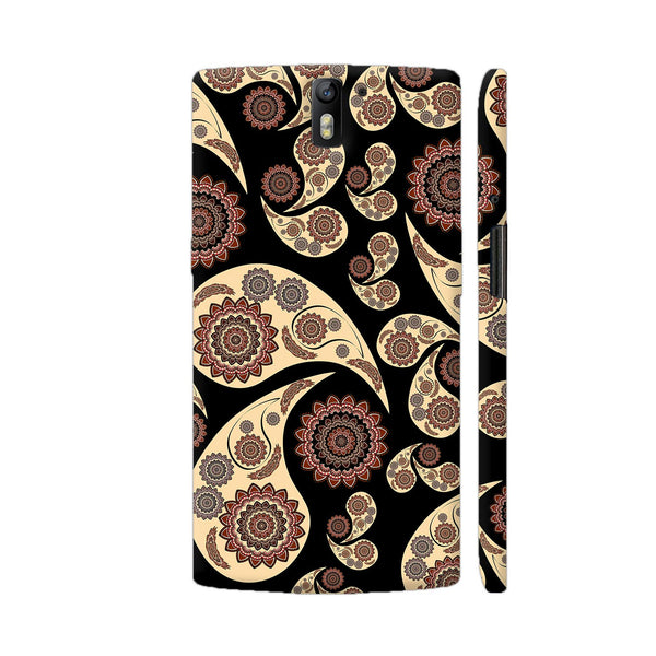 Paisley Pattern On Black OnePlus One Cover | Artist: VanessaGF