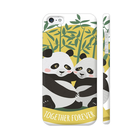 Panda Couples iPhone SE Cover | Artist: Astha