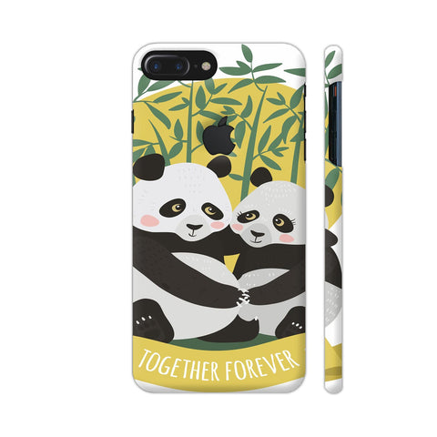 Panda Couples iPhone 7 Plus Logo Cut Cover | Artist: Astha