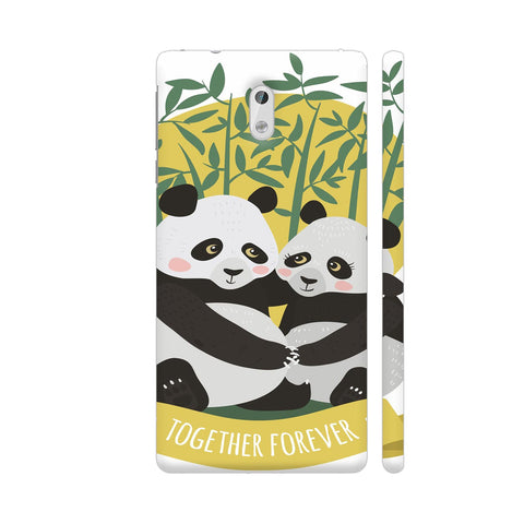 Panda Couples Nokia 3 Cover | Artist: Astha