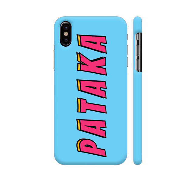 Pataka On Blue iPhone X Cover | Artist: Malls