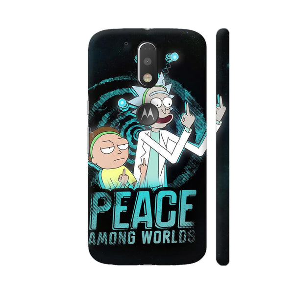 Peace Among Worlds Rick And Morty Moto G4 Plus Logo Cut Cover | Artist: Comic Fries