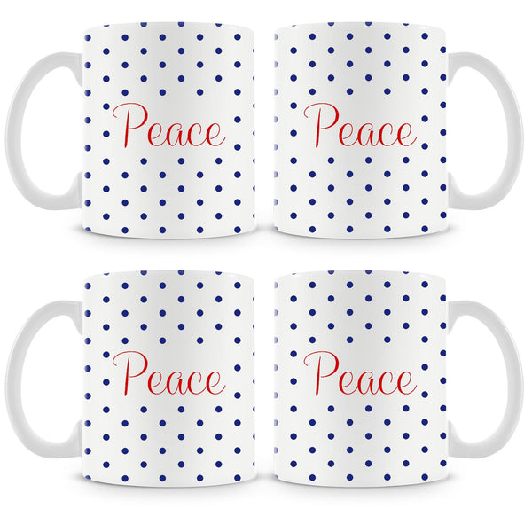 Peace Mug (Set of 4)