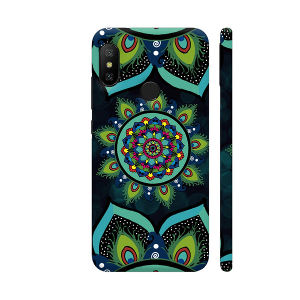 Peacock Feather Mandala Redmi 6 Pro Cover | Artist: thatcrazydoodler