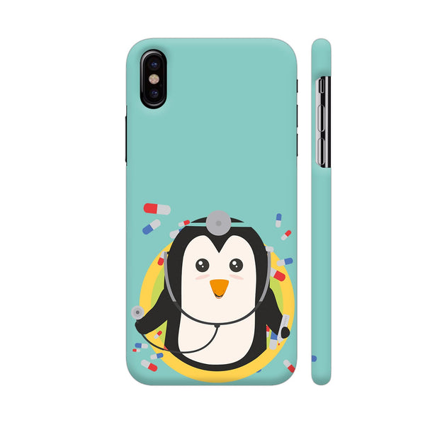 Penguin Doctor In Circle iPhone X Cover | Artist: Torben