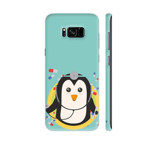 Penguin Doctor In Circle Samsung Galaxy S8 Cover | Artist: Torben